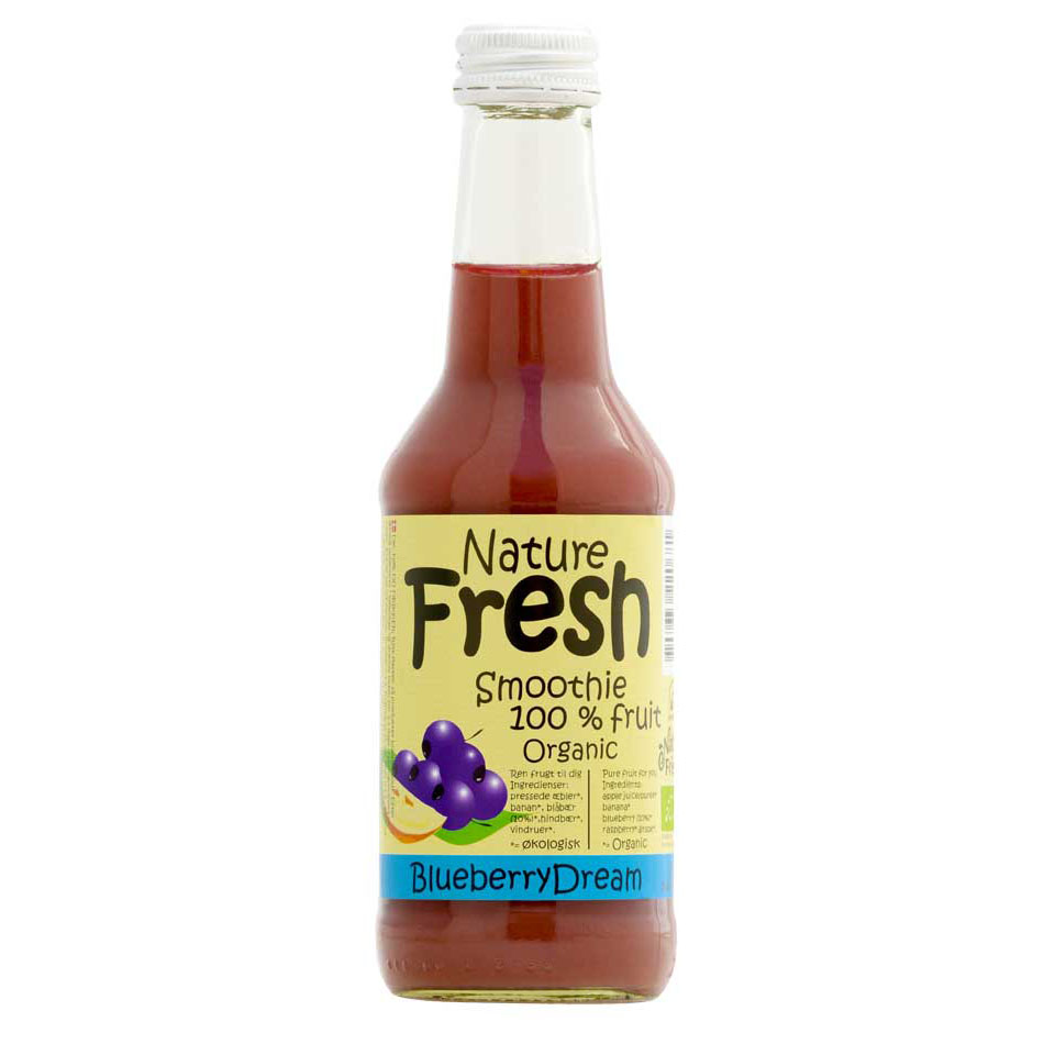 Naturfrisk blåbærsmoothie u/sukker 250 ml øko