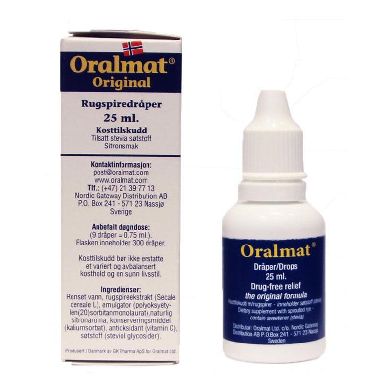 Oralmat 500 rugspiredråper 25 ml