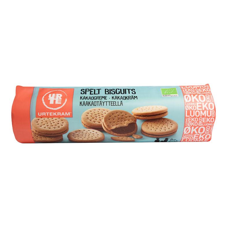Urtekram speltkjeks m/kakaokrem 300 gr