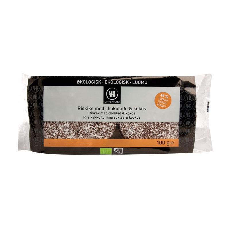 Urtekram riskaker m/sjokolade og kokos 100 gr