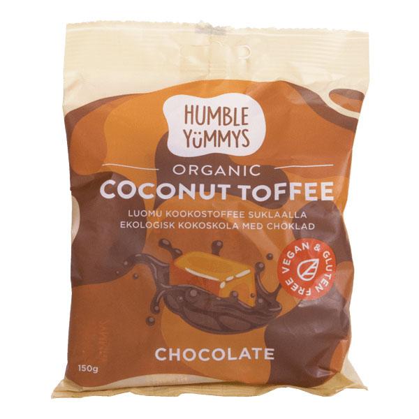Humble Yummys coconut choco toffee 150 gr