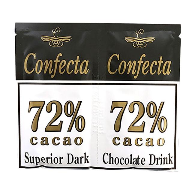 Confecta choco-mørk 72% sjokoladedrikk 2pk