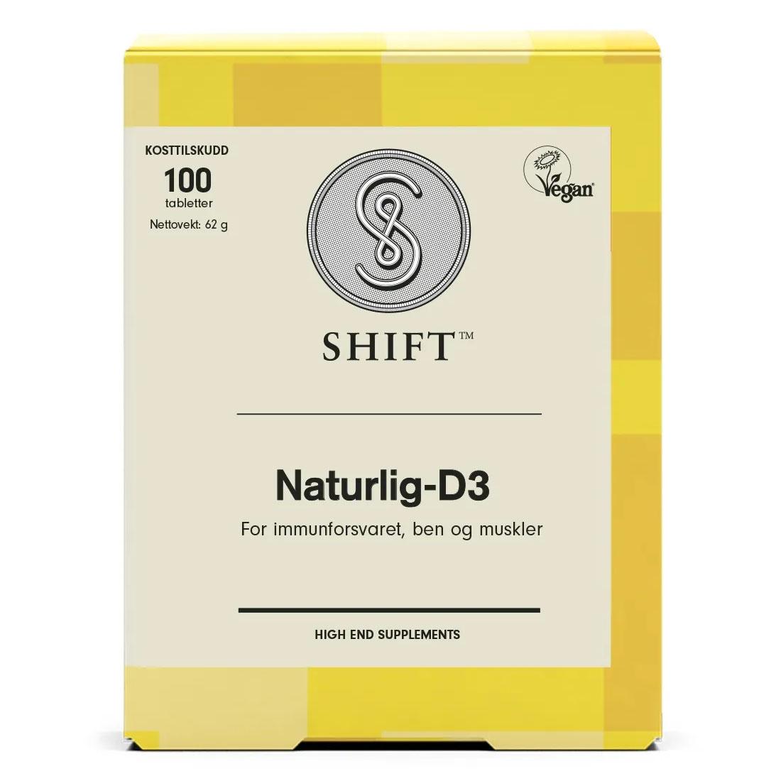 Shift SuperNaturlig-D3 80 µg 100 tab