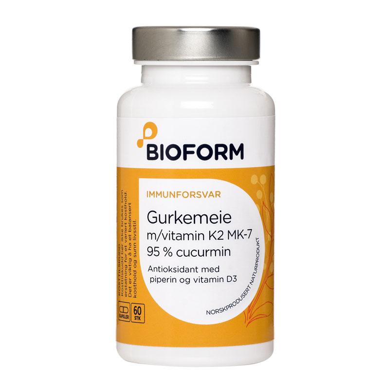 Bioform gurkemeie med k2 60 kap