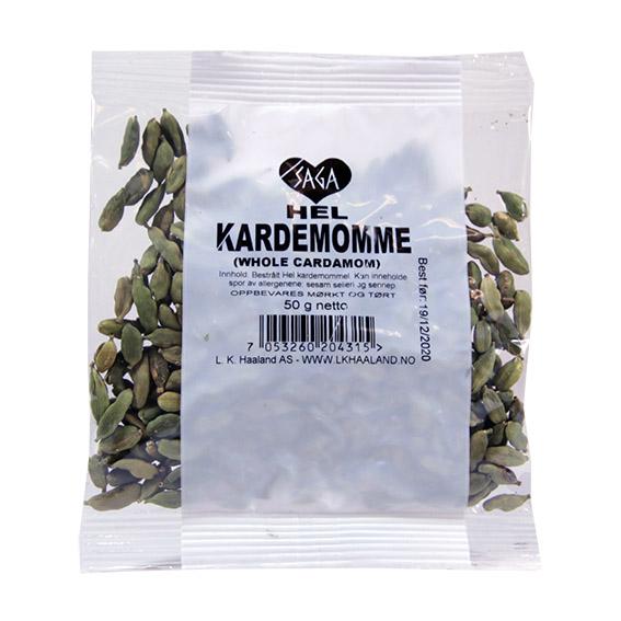 Saga hel kardemomme krydder pose 50 gr