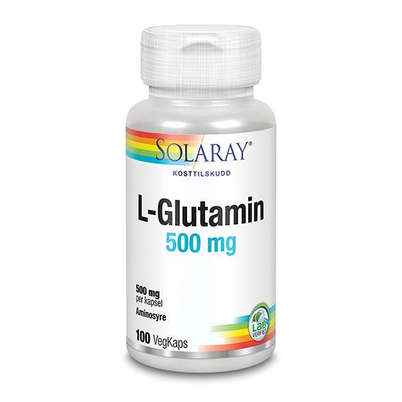 Solaray l-glutamin 500 mg 100 kap
