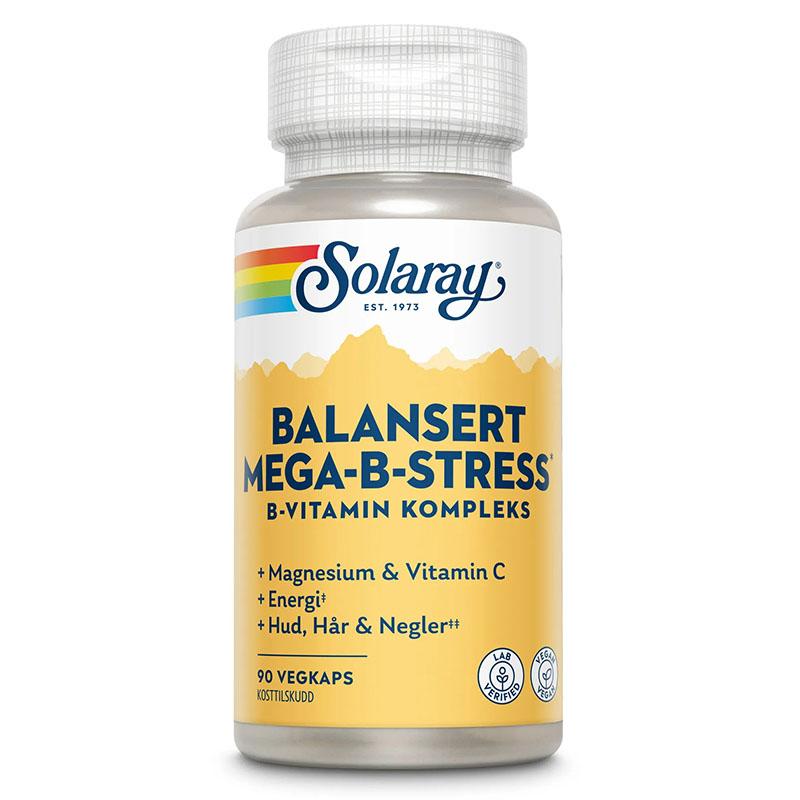Solaray mega b stress b-kompleks 90 kap