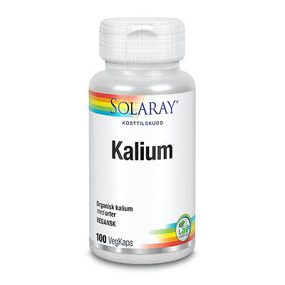 Solaray kalium 100 kap