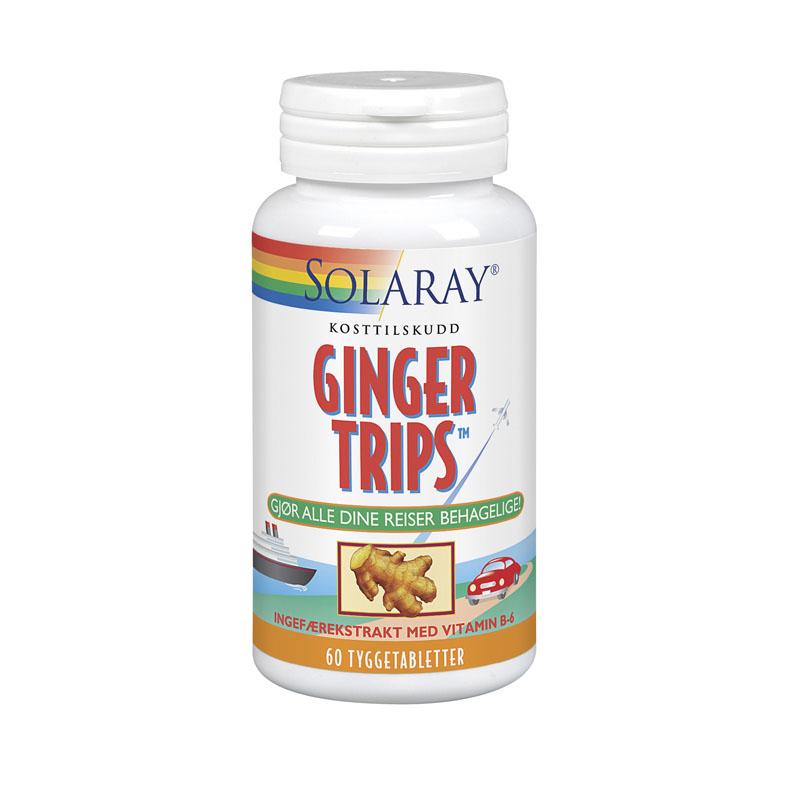 Solaray ginger trips 60 tyggetabletter