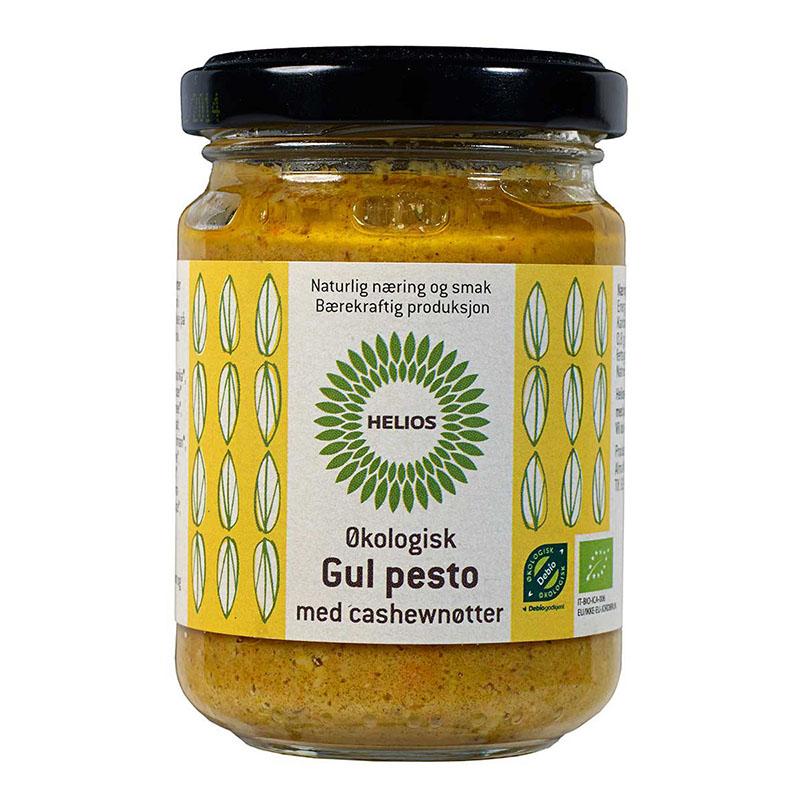 Helios pesto gul med cashewnøtter 130 gr øko