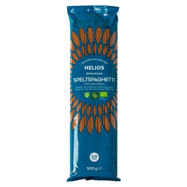 Helios speltspagetti fullkorn 500 gr øko
