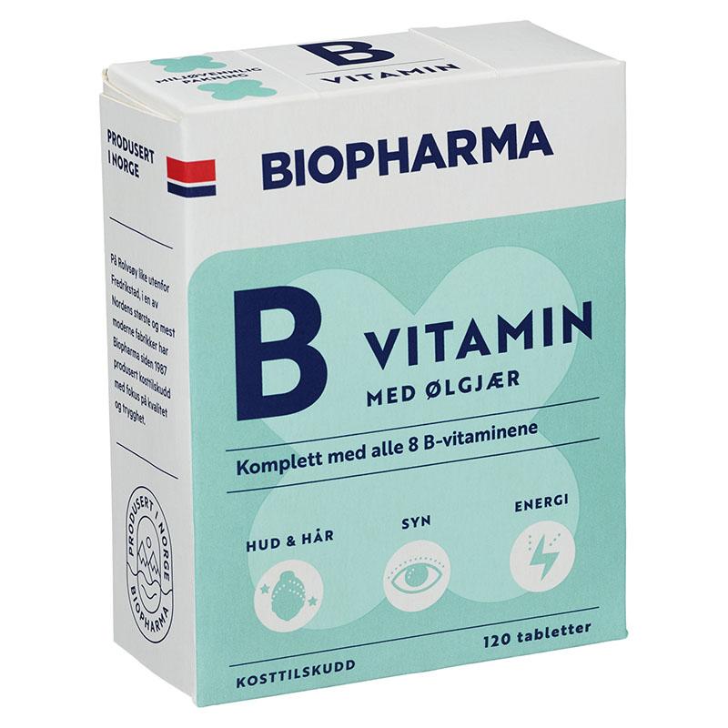 Biopharma vitamin b med ølgjær 120 tab