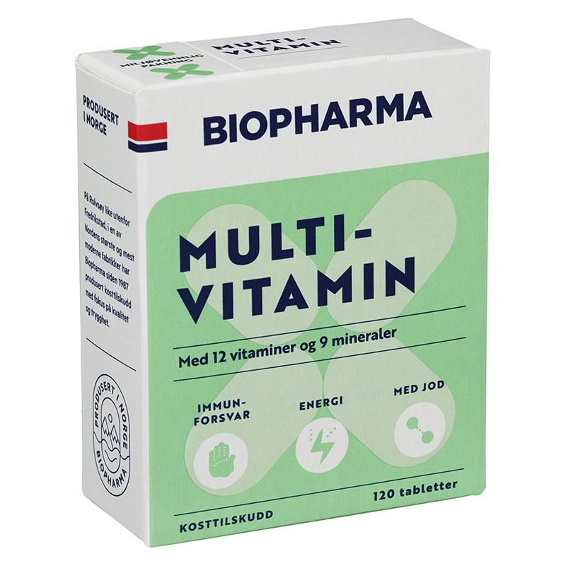 Biopharma multivitamin med jod 120 tab