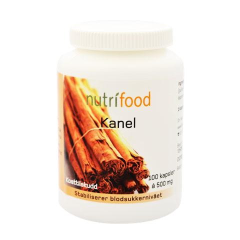 Nutrifood kanelkapsler 500 mg 100 kap