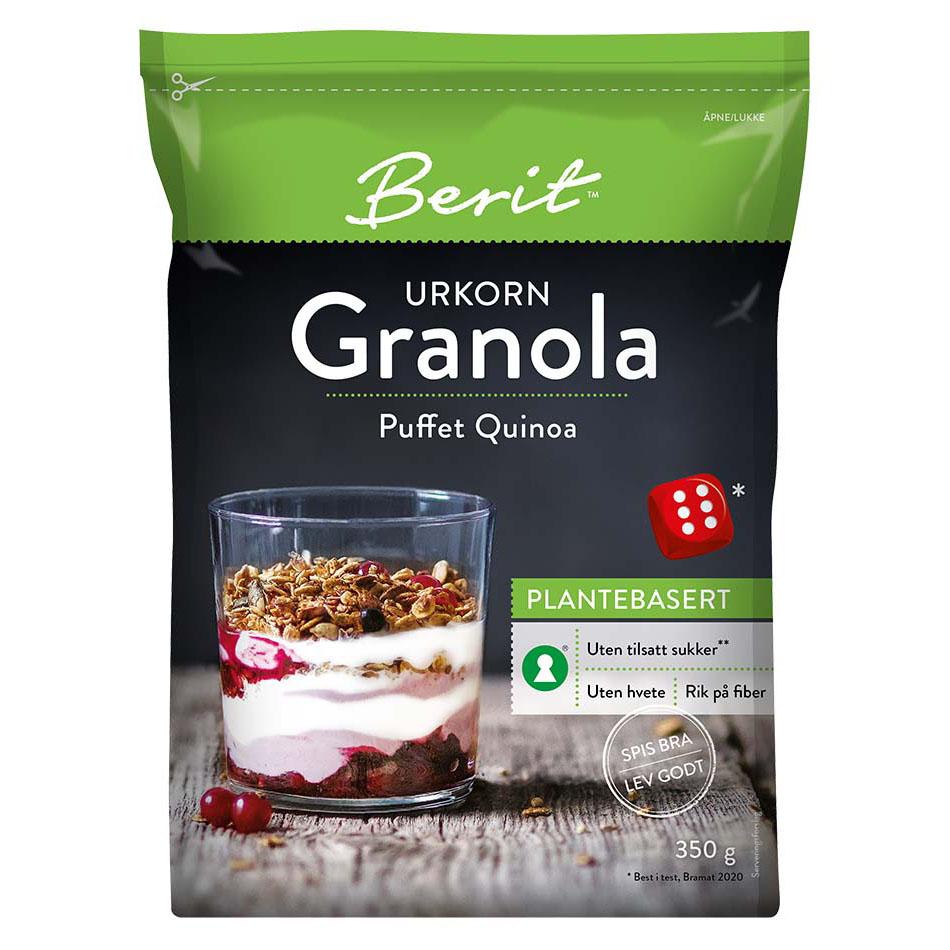 Berit Nordstrand granola puffet quinoa 350 gr