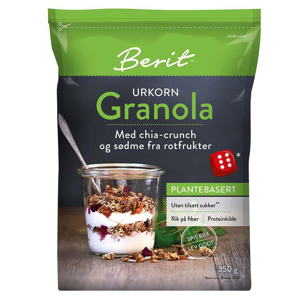 Berit Nordstrand granola greenola chia rotfrukter 350 gr