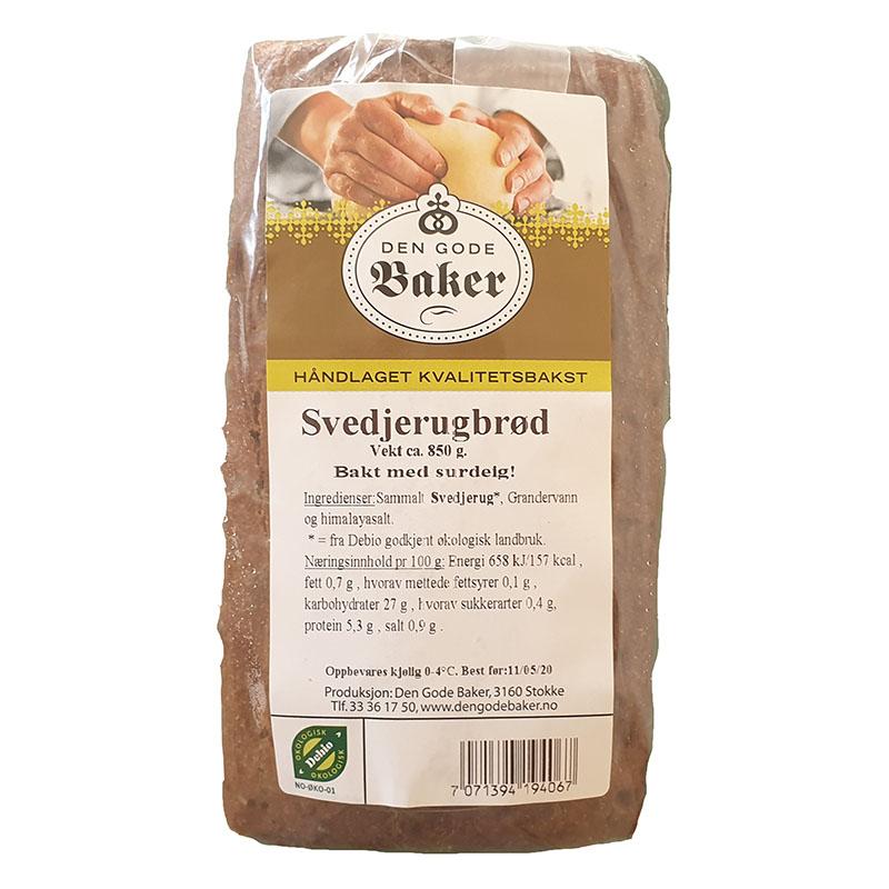 Den Gode Baker svedjerugbrød 850 gr øko