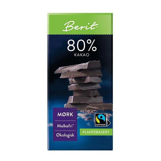 Berit Nordstrand mørk sjokolade 80% 80 gr