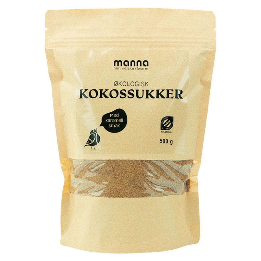 Manna kokosblomstsukker 500 gr øko