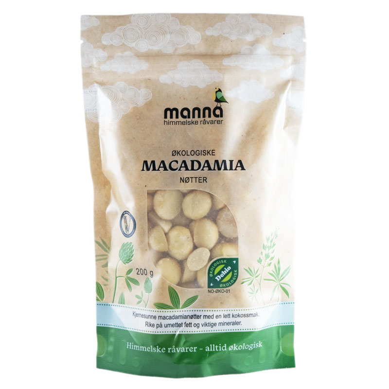 Manna macadamianøtter 200 gr øko