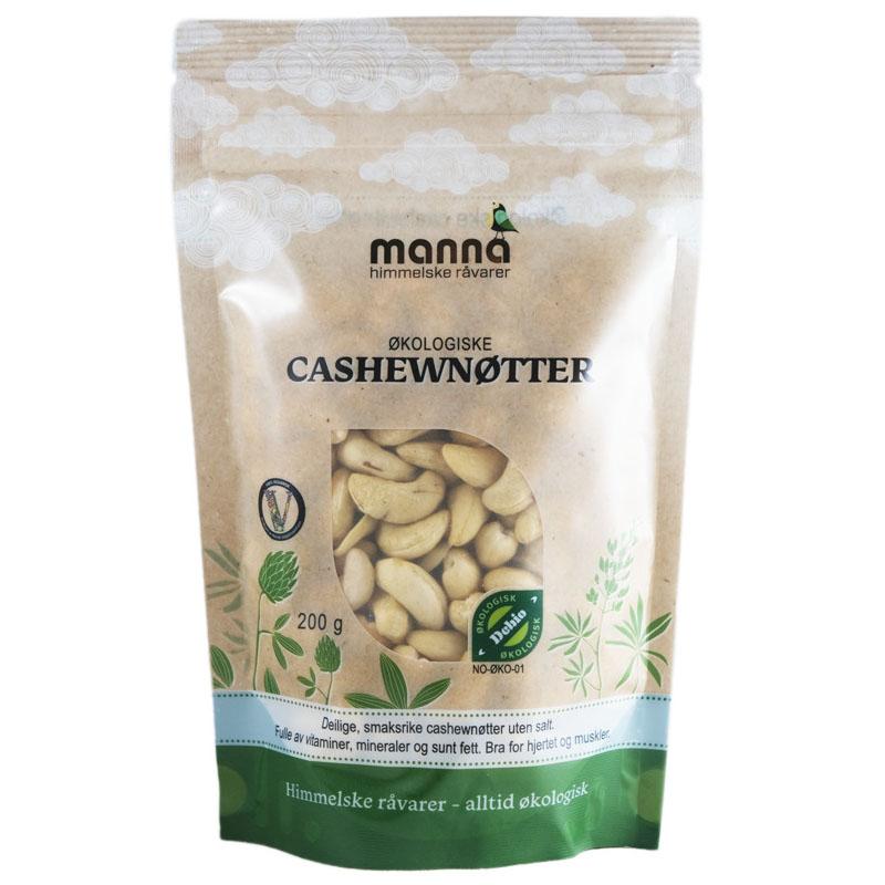 Manna cashewnøtter u/salt 200 gr øko