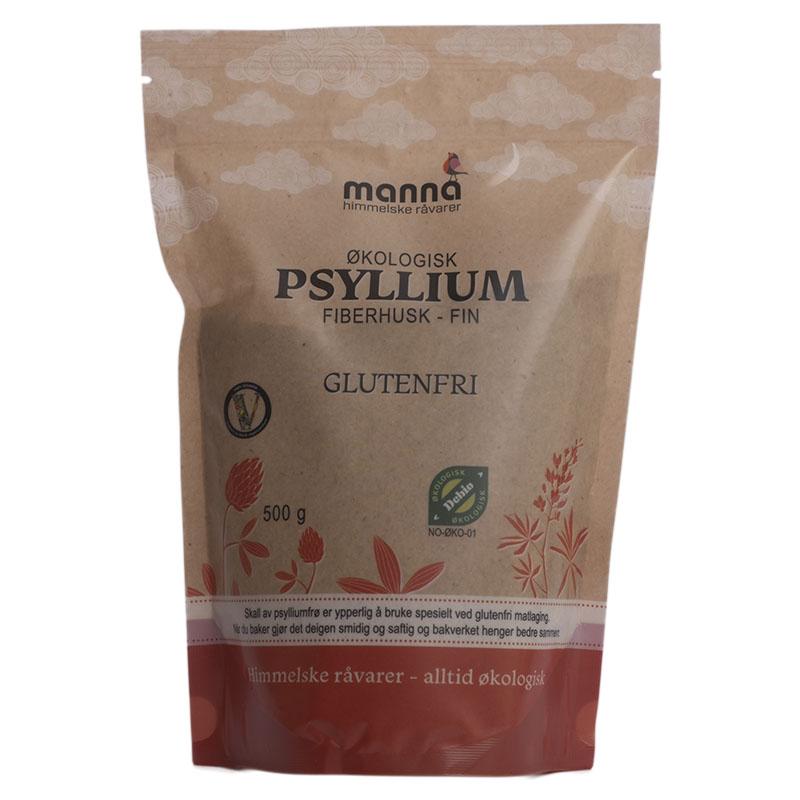 Manna psyllium fiberhusk fin 500 gr øko
