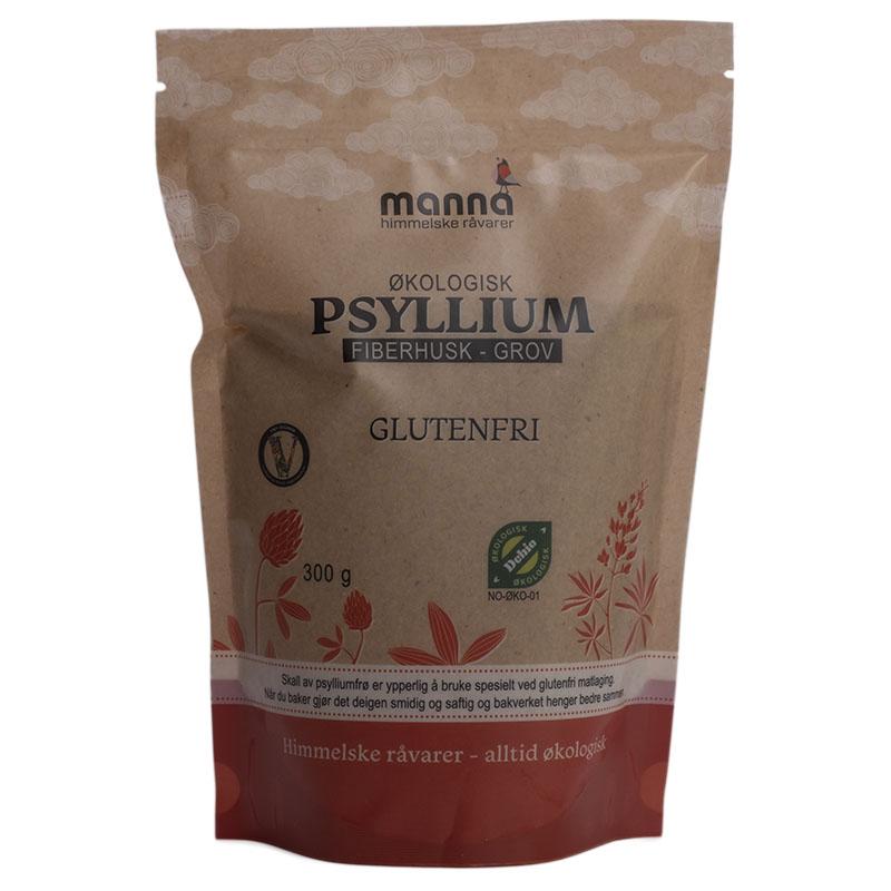 Manna psyllium fiber husk grov 300 gr øko