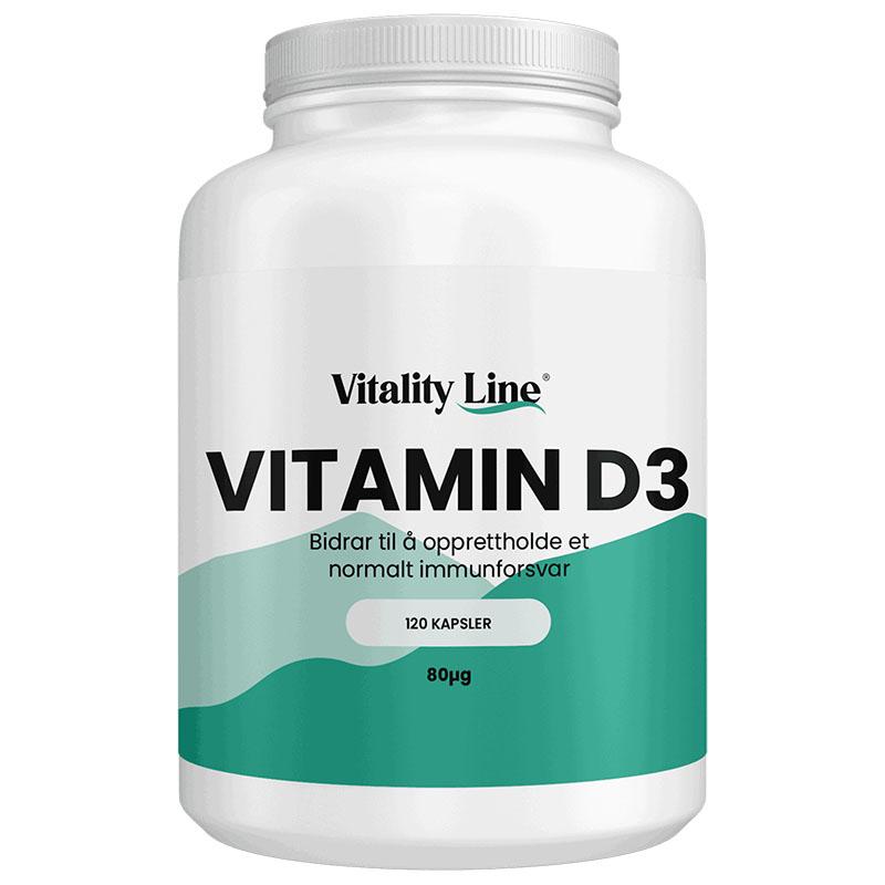 Vitality Line D3 80 µg 120 kap