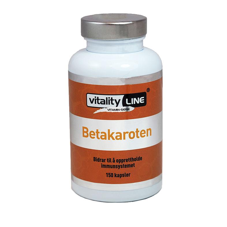 Vitality Line betakaroten 15 mg 150 kap
