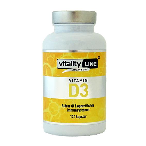 Vitality line vitamin D3 40 µg 120 kap