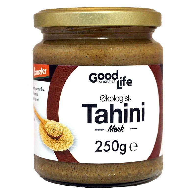 Goodlife tahini mørk demeter 250 gr