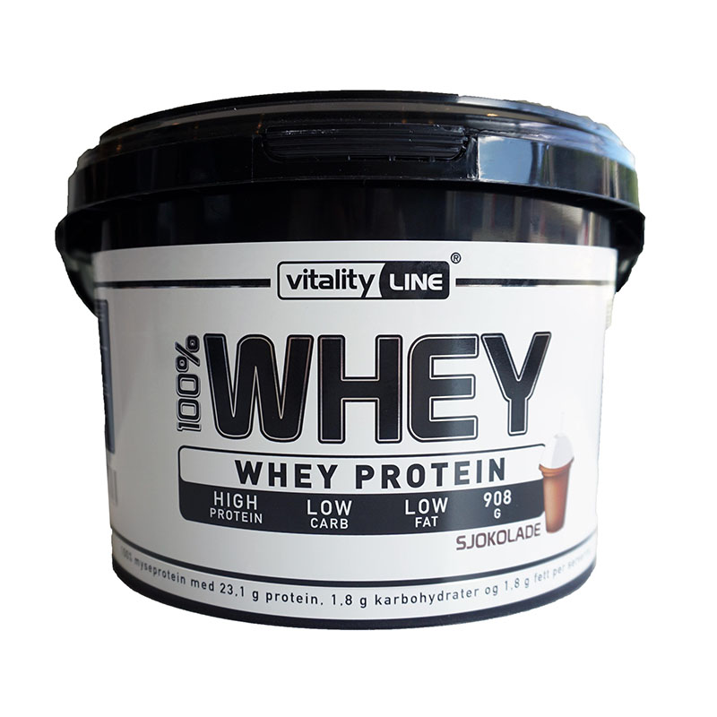Vitality Line whey protein sjokolade 908 gr