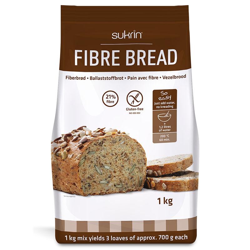 Funksjonell fiberbrød brødmiks 1 kg