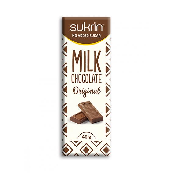 Funksjonell sukrin melkesjokolade 40 gr