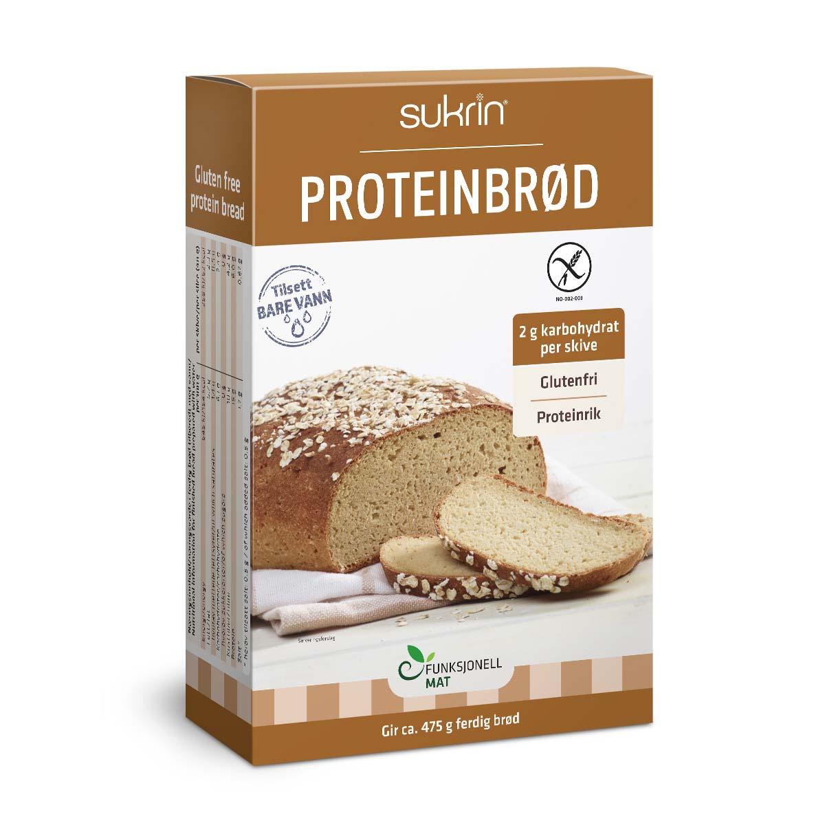 Funksjonell proteinbrød brødmiks 220 gr