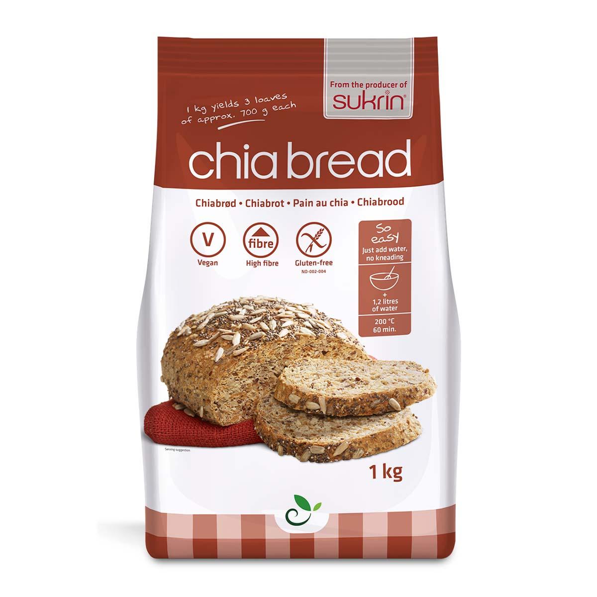Funksjonell brødmiks chiabrød 1 kg