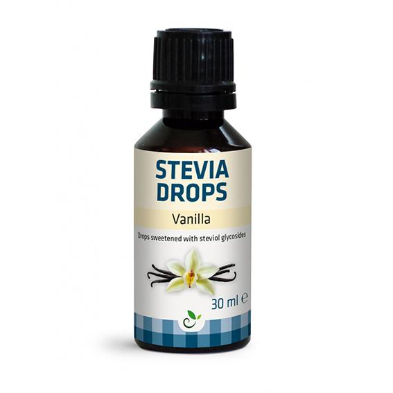 Funksjonell stevia drops vanilla 30 ml