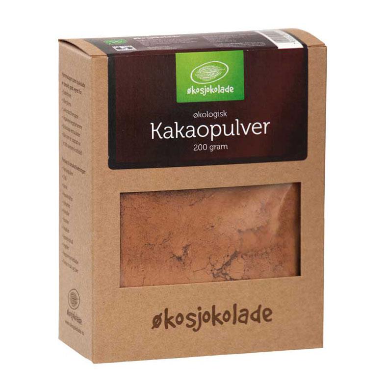 Økosjokolade kakaopulver rå 200 gr øko