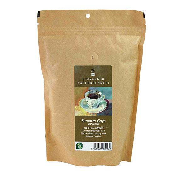 Kaffe gayo sumatra bønner 250 gr øko