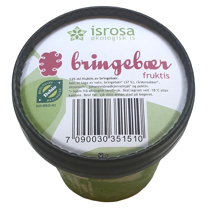 Isrosa fruktis bringebær vegansk 125 ml øko