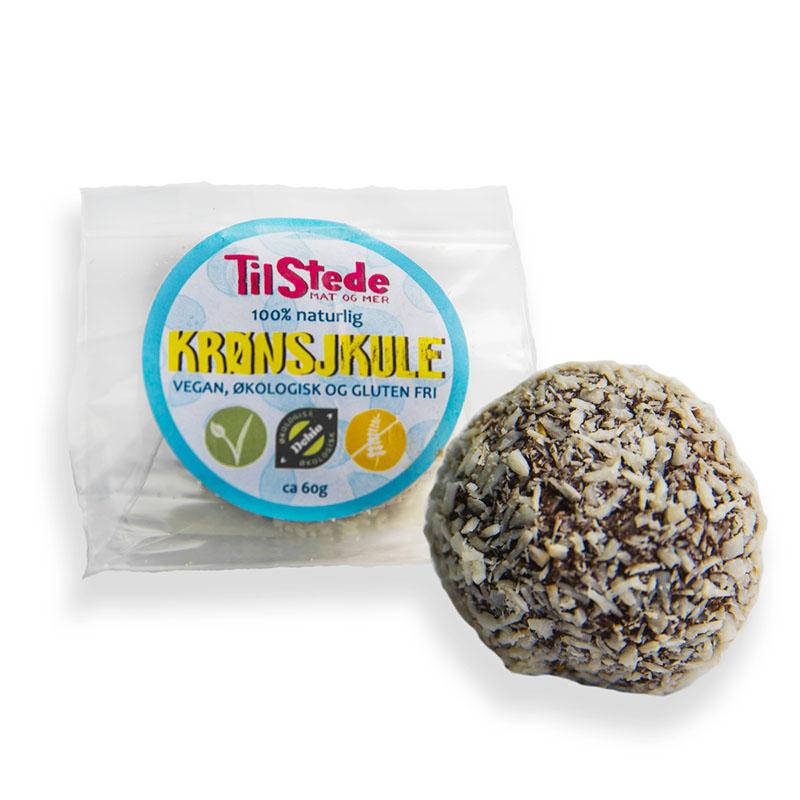 TilStede krønsjkule sjokoladeball 60 gr øko