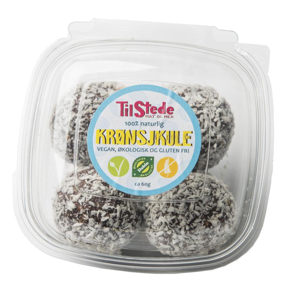 TilStede krønsjkule sjokoladeball 4 stk 240 gr øko