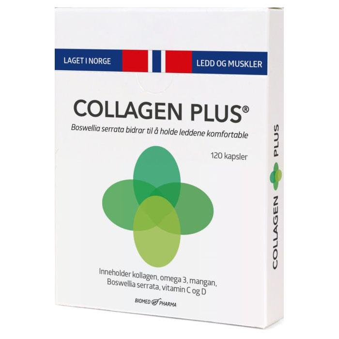 Collagen Plus med boswellia Serrata 120 kap