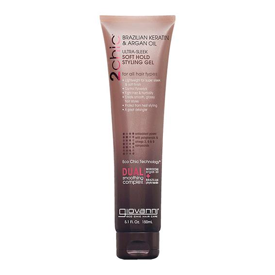 Giovanni keratin & argan soft hold styling gel 150 ml