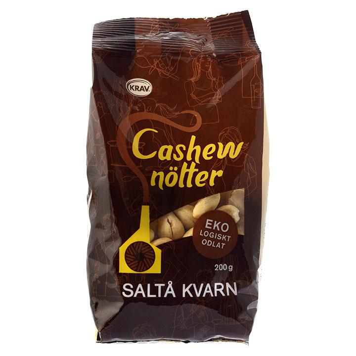 Saltå Kvarn cashewnøtter u/salt 200 gr øko