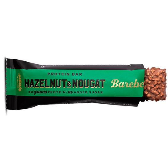 Barebells hazlenut and nougat proteinbar 55 gr