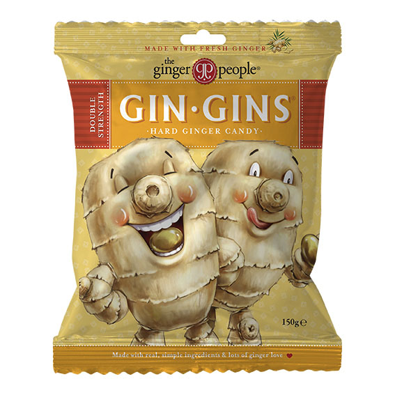 Gin Gins double strength ginger 150 gr