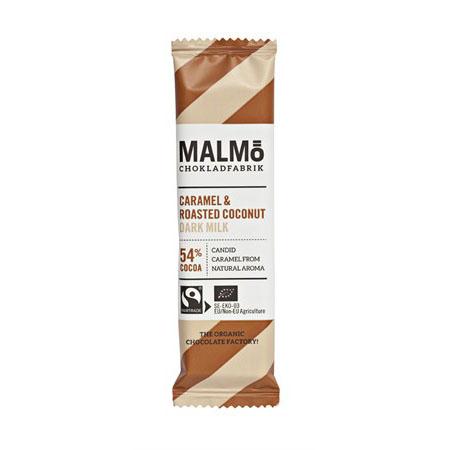 Malmö CF minibar karamell & rostad kokos 54% 25 gr øko