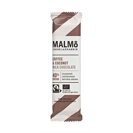 Malmö CF minibar kaffe & kokos 40% 25 gr øko