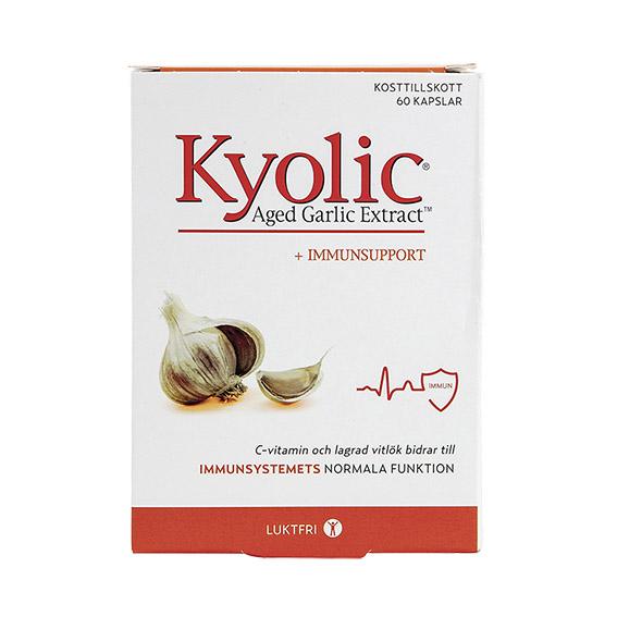 Kyolic hvitløksekstrakt + immunsupport 60 kap